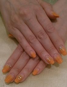 オレンジカラーグラデ